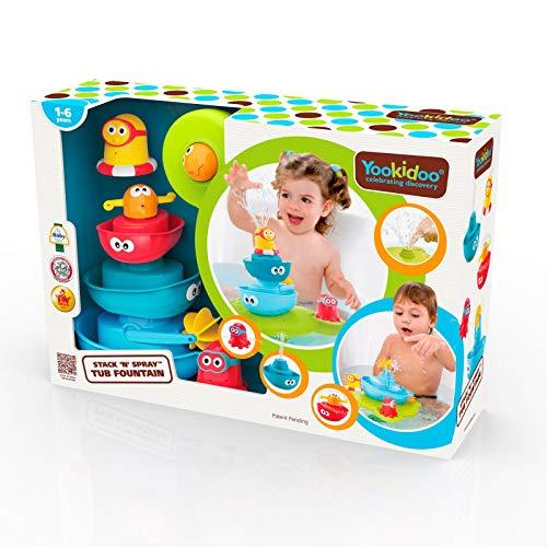Yookidoo stack 'n' spray - Juguetes de Baño de Bebés, Multicolor (40115)