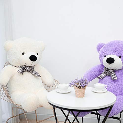 YunNasi Gigante Teddy Oso de Peluche Animal de Felpa Osito Suave Grande Blanco 120 cm