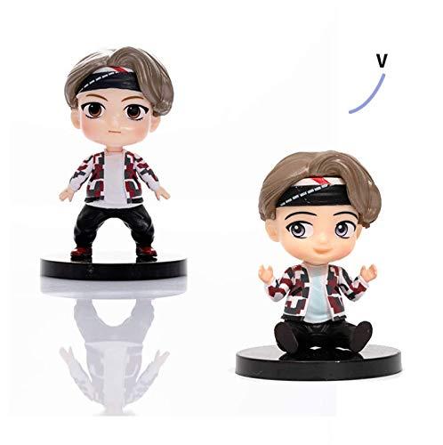 YUY BTS Mini Muñecas De Juguete Personajes Animados De Idol Model Muñecas Modelo De Cabina Adornos para Niños Y Niñas,Sittingposition