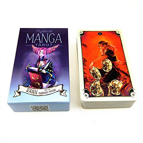 YZHM Mystical Manga Tarot, 78 Tarjetas de Tarot Conjunto Juego de Mesa de Uso Personal