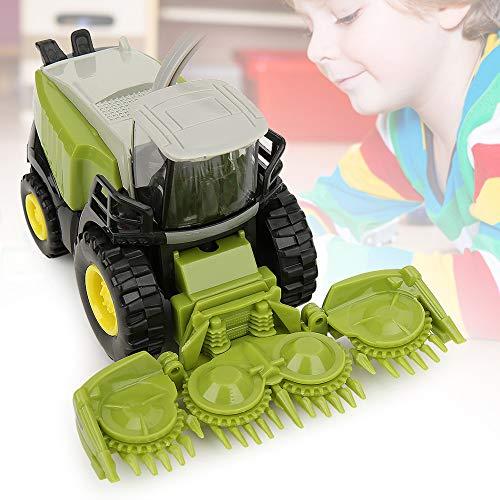 Zerodis 1/42 Mini Modelo de vehículo Combinado Juguete Vehículo de aleación agrícola Colección educativa temprana Regalo de Juguete para niños Niños y niñas(Verde)