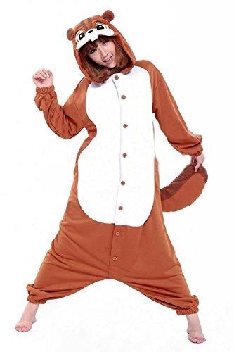 Ardilla Pijamas Enteros Cosplay Adulto Ropa de Dormir Hombre Camisones Disfraces Carnaval Ropa Pijamas de Una Pieza Mujer