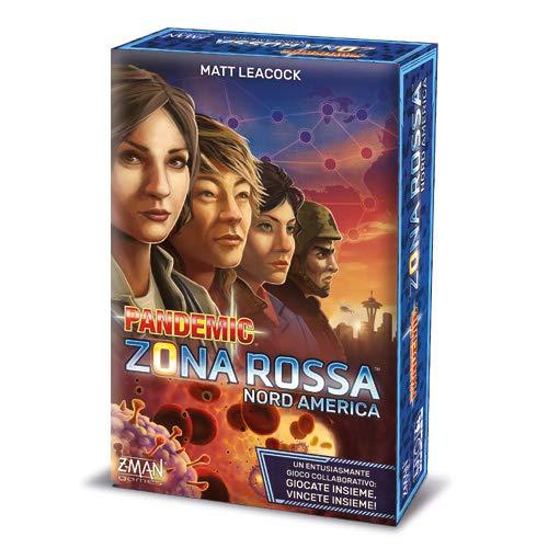 Asmodee - Pandemic Zona Roja-Nord América Juego de Mesa, Multicolor, 8398