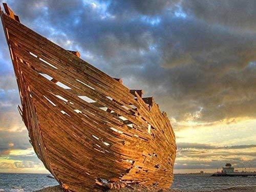 Barco inacabado grande 500 piezas rompecabezas para adultos niños regalo de bricolaje rompecabezas de madera