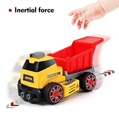 BeebeeRun 7 in 1,Coche de Juguete 3 años,Juguetes Niños 4 Años,Juegos de Construcción para Niños y Niñas,Camión Juguete
