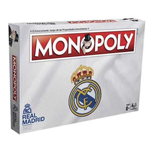 BricoLoco. Juego de mesa familiar. Monopoly Real Madrid CF en castellano.