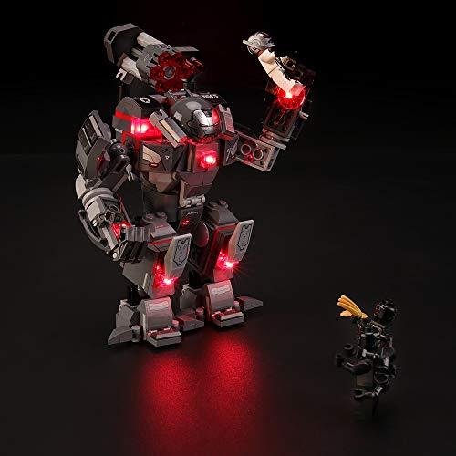 BRIKSMAX Kit de Iluminación Led para Lego Super Heroes Depredador de Máquina de Guerra, Compatible con Ladrillos de Construcción Lego Modelo 76124, Juego de Legos no Incluido