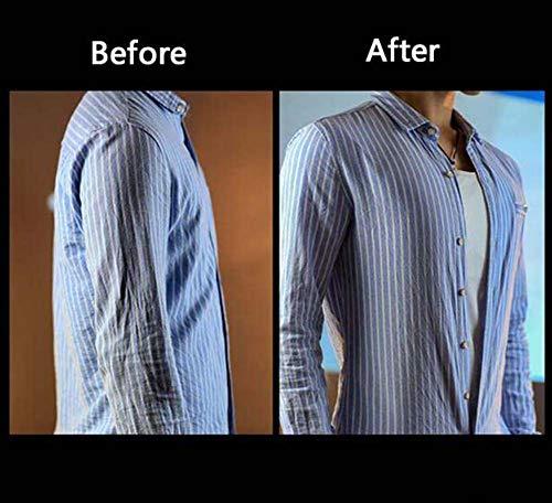Camisa del músculo para Hombres Realista Músculos del Pecho Camiseta Interior Acolchada Disfraz de Halloween Fechado Ropa de Fiesta,White,XL