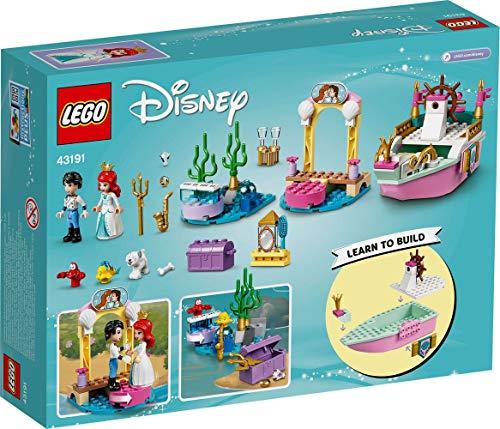 Collectix Lego Set - Barco de fiesta Ariel (43191) + Disney Princesa Aventura Aventura Atréveda, set de construcción a partir de 4 años