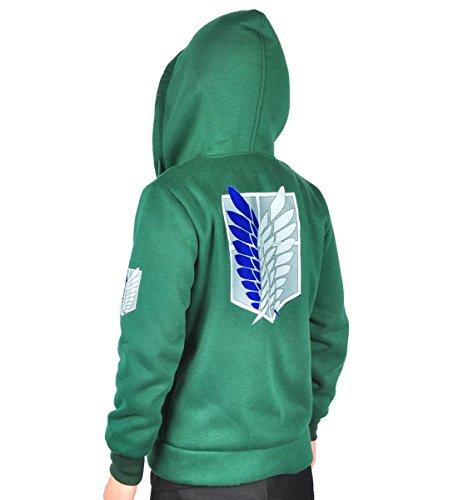 CoolChange Sudadera con Capucha de Ataque a los Titanes con Logo de la legión de reconocimiento, Talla: XL