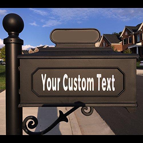 customTAYLOR33 Números de Letras de buzones Personalizados Reflectantes de Alta Intensidad: Casas, Apartamentos, condominios, Empresas (Altura de Fuente de 1 Pulgada, 2 Filas de Texto)