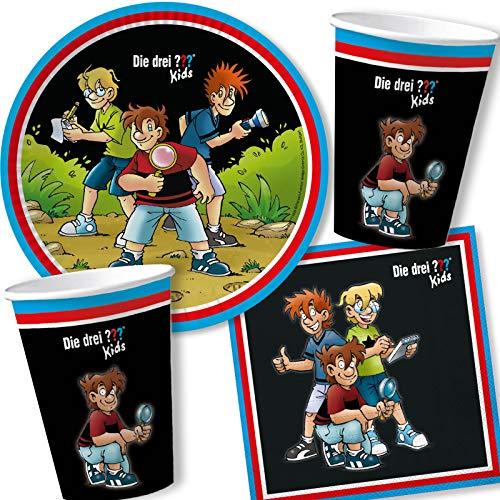 DH-Konzept 3 globos para niños, 9 unidades, para fiesta de detective, 3 signos de preguntas