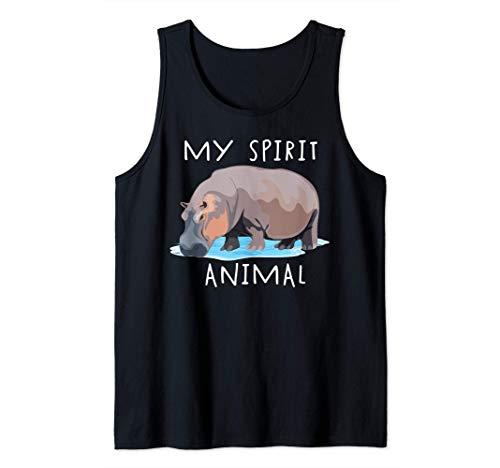 Divertido Hipopótamo Mi animal espiral Lindo regalo de hipop Camiseta sin Mangas