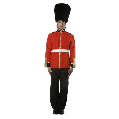 Dress Up America- Atractivo Traje de Adulto de Soldado de la Guardia Real-Talla X-Grande, Color 1, Extragrande(Cintura: 122-132, Altura: 173-193 cm, Entrepierna: 84 cm) (346-XL)