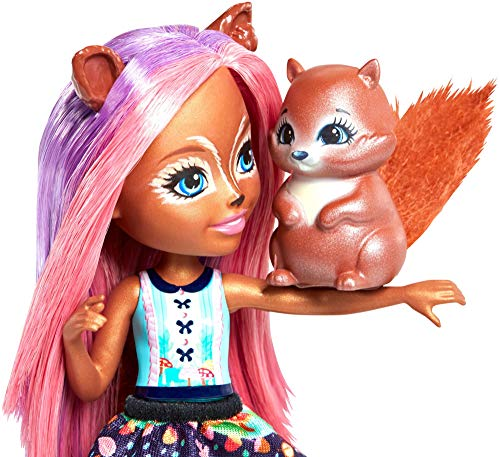 Enchantimals- Sancha Squirrel Echantimals, Muñeca, Multicolor, (Mattel FMT61)