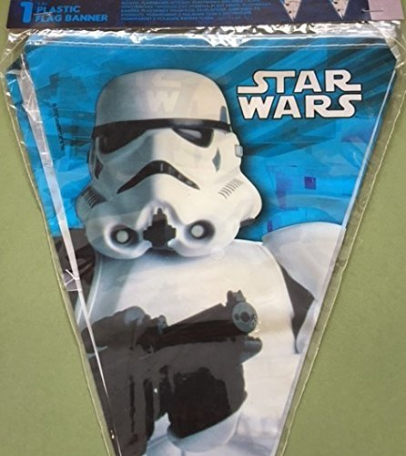 Folat B.V. Procos 84168 Banderines de Star Wars Stormtrooper, 2,3 m, blanco/negro/azul