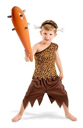 Folat - Disfraz de Hombre de Las cavernas para niño - Marrón - Talla M