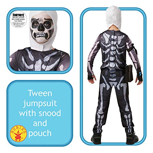 Fortnite - Disfraz Skull Trooper para niños, 13-14 años (Rubies 300194-TE)