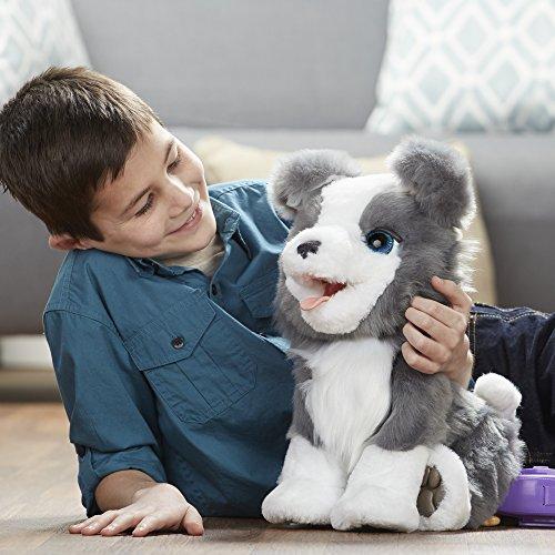 FurReal Friends - Peluche Interactivo Ricky, mi pequeño Perro Muy Malin, versión Francesa