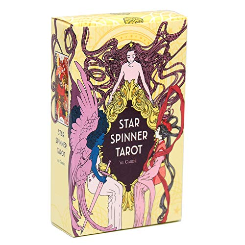 jiheousty 81 Cards Deck Star Spinner Tarot Full English Oracle Card Fun Party Juego de Mesa