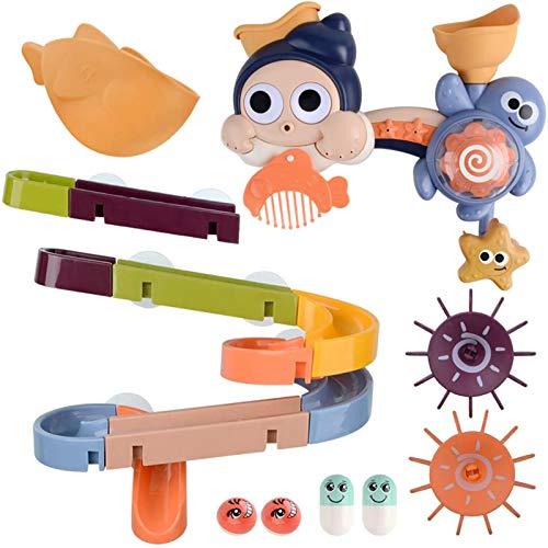 Juguetes de bañera para niños y niñas Juguetes de baño DIY Tobogán de Agua Baño 27PCS Pistas de Pared Succión