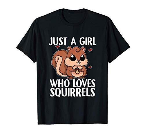 Just A Girl Who Loves Squirrels Disfraz De Ardilla Camiseta