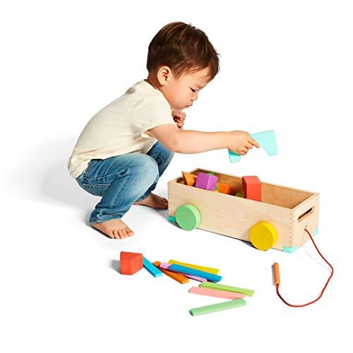 Lovevery Block Set Juego de Bloques, 70 Piezas y 18 Formas para Introducir la educación Stem (Apto para niños a Partir de 18 Meses hasta Edad Preescolar y más Mayores también.
