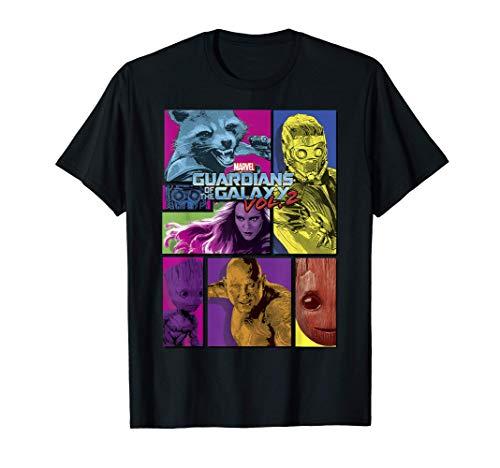 Marvel Guardians of the Galaxy 2 Team Puzzle Camiseta