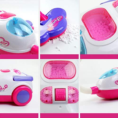 Mini Aspiradora eléctrica para niños Hoover con función de trabajo real, Dollhouse Miniatura Accesorio de plástico Aspiradora de plástico,Mini Juguetes para electrodomésticos