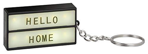 Moses Mini caja de luz en el llavero | llavero para personalizar | con 75 letras, números y símbolos.