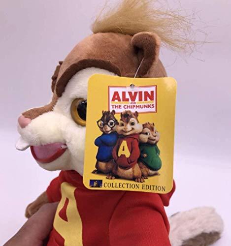 NC88 Alvin Ardillas de Juguete de Felpa 25 Cm Lindas Ardillas Alvin Personaje de Anime muñeca Linda Almohada Suave decoración Familiar Chico Mascota Juguete