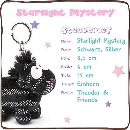 NICI 44950 - Llavero de peluche con unicornio Starlight Mystery de 10 cm - Peluche de unicornio con llavero para llavero, llavero, llavero y cadena