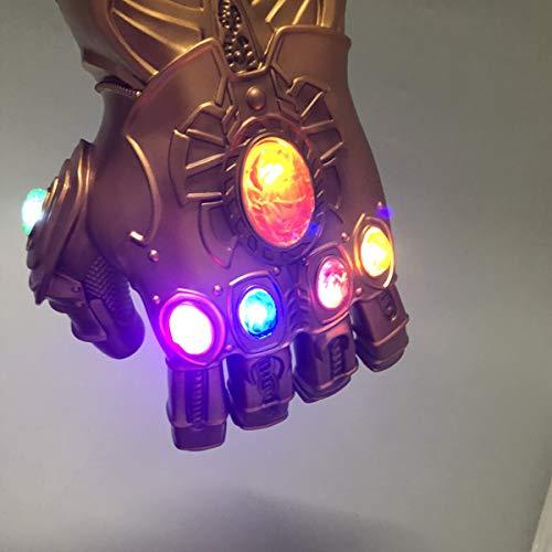 NUWIND - Guante de Thanos con Luz Infinity Gauntlet de los Vengadores con Magnética Gemas Disfraz de Cosplay Halloween (Adulto)