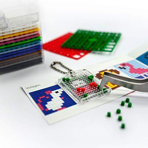 Pracht Creatives Hobby- Pixel - Juego de Regalo Divertido con Forma de Huevo, 3 diseños de Unicornio, Flamenco y candado de corazón (P90062-12501)