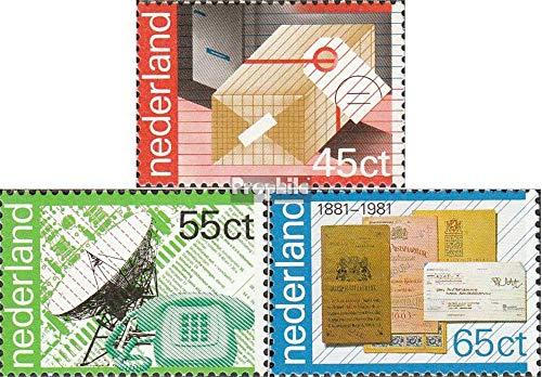 Prophila Collection Países Bajos Michel.-No..: 1180-1182 (Completa.edición.) 1981 100 años P.T.T. (Sellos para los coleccionistas)