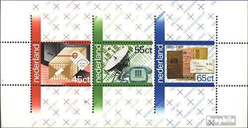 Prophila Collection Países Bajos Michel.-No..: Bloque 22 (Completa.edición.) 1981 100 años P.T.T. (Sellos para los coleccionistas)