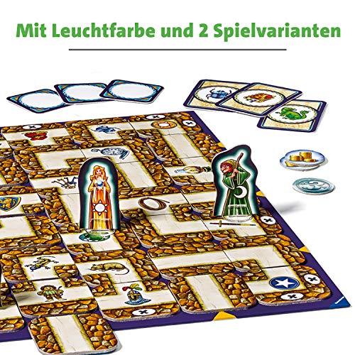 Ravensburger Labyrinth Glow in The Dark 26687 - Juego de Mesa de Laberinto (Brilla en la Oscuridad), diseño clásico de la Familia con Colores Luminosos, para niños y familias a Partir de 7 años