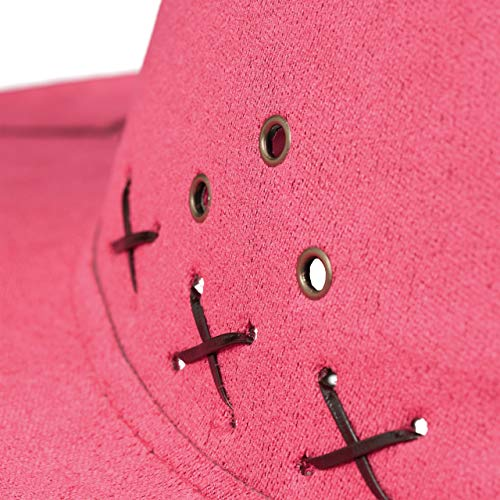 Relaxdays Sombrero Vaquero, color rosa, 16 X 35,5 X 39 Cm (10024992_52) , color/modelo surtido