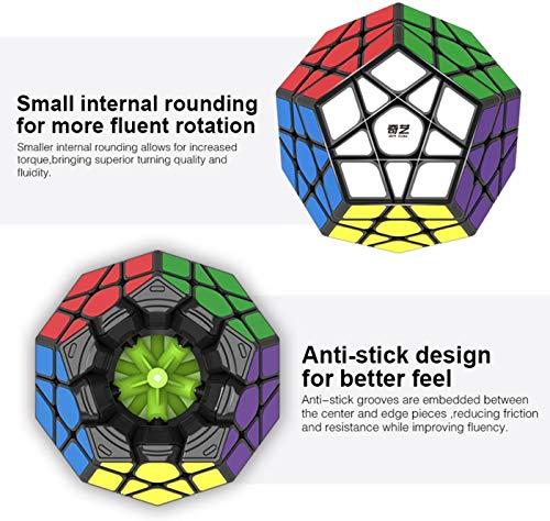 RENFEIYUAN MA Pentagonal Dodecahedron Profession Juguete se vuelve más rápido Que el Original Rubik Cubo (Color : Stiker meganminx)