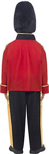 Smiffy's-26859M Disfraz de Guardia Alto, con Top, Pantalones y Gorro, Color Rojo, One Size (26859M)