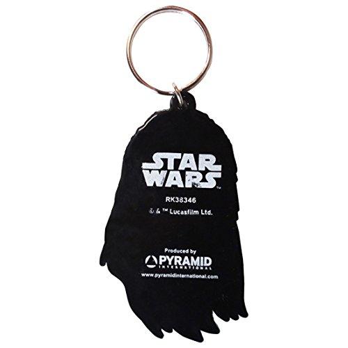 Star Wars Chewbacca - Llavero de goma de PVC, multicolor, 4 x 6 x 1,3 cm
