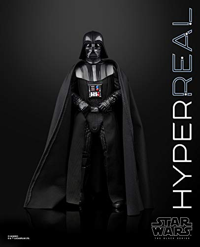 """Star Wars The Black Series Hyperreal Episode V The Empire Strikes Back 8""""-Scale Darth Vader Action Figure – Collectible"""