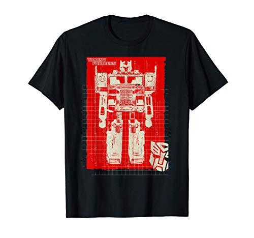US Transformers Optimus Prime Toy Blueprint 01 Camiseta