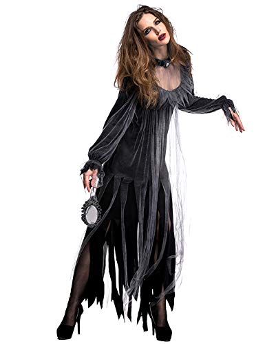 XINSH Halloween Vampiro Reina Fantasma Novia Juego de Roles Disfraz de Bruja Carnaval Carnaval