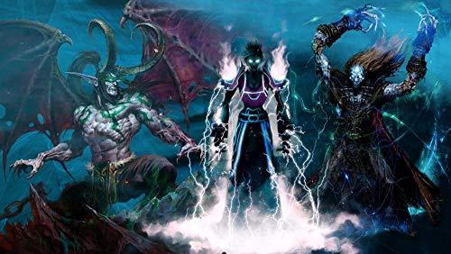 XYDH Rompecabezas para adultos de 500 piezas – Video Game World of Warcraft – Juguete educativo intelectual para descomprimir rompecabezas divertido juego familiar para niños adultos/52 x 38 cm