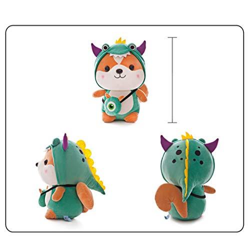 YXiang Peluche Ardilla Linda Ardilla Relleno Animal De Peluche Almohada Navidad Niños Regalo De Cumpleaños (Dinosaurio, 13.78in)