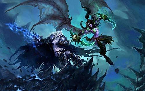 ZZWJ Lienzo De Bricolaje De Pintura Al óLeo Pintar Por Numeros Para Adultos NiñOs Decoraciones Para El Hogar Regalo-Videojuego World Of Warcraft 16x20 Pulgadas Sin Marco