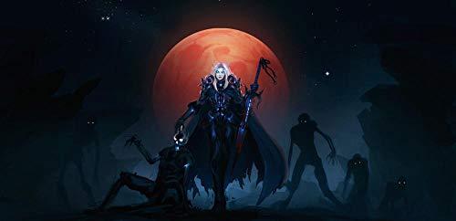 ZZWJ Pintar Por Numeros Adultos NiñOs Para Diy Pintura Por NúMeros Con Pinceles Y Pinturas Decoraciones Para El Hogar-Videojuego World Of Warcraft 16x20 Pulgadas Sin Marco