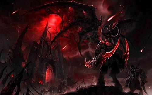 ZZWJ Pintura Por NúMeros Para Adultos, Kit De Pintura Al óLeo De Lienzo Diy Para NiñOs Con Pinceles, Pigmento AcríLico-Videojuego World Of Warcraft Sin Marco 16x20 Pulgadas