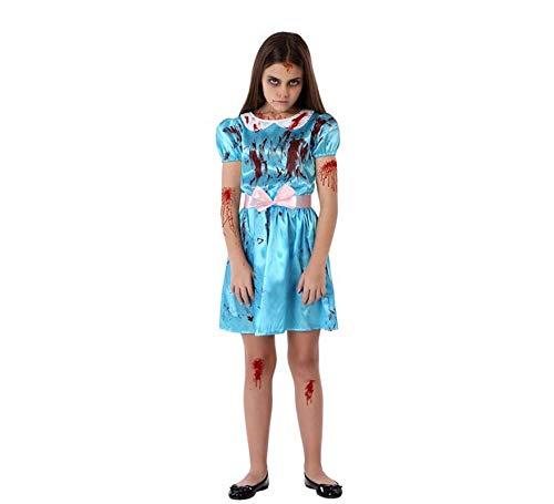 Atosa-65831 Disfraz Niñas Siniestras, color azul, 10-12 Años (65831)